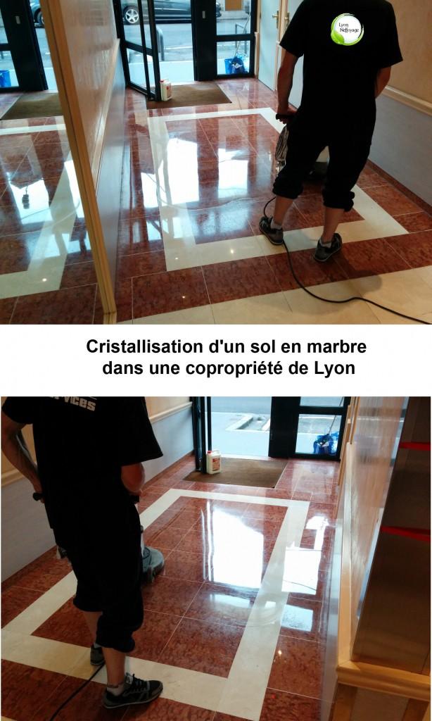 cristallisation d'un marbre a Lyon